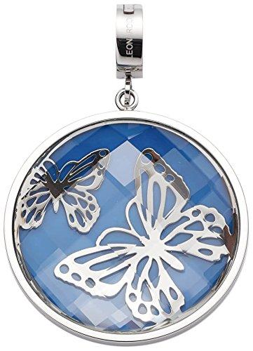 JEWELS BY LEONARDO Damen-Anhänger & clips Ilaria Darlin\'s Edelstahl Glas blau silber Clipverschluss Schmetterling 016551