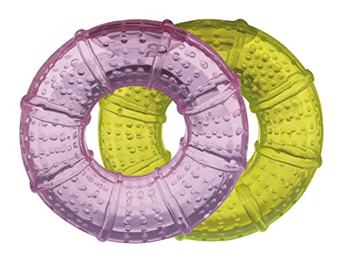 Goldi Zahnungshilfe - Beißring/Kühlring im Doppelpack (rosa+gelb)