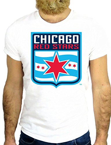 T SHIRT Z0476 CHICAGO ILLINOIS USA AMERICA NEW YORK NICE VINTAGE COOL HIPSTER GGG24 BIANCA - WHITE