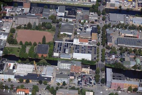 MF Matthias Friedel - Luftbildfotografie Luftbild von Ausschläger Weg in Hammerbrook (Hamburg), aufgenommen am 19.08.09 um 12:02 Uhr, Bildnummer: 5446-25, Auflösung: 6048x4032px = 24MP - Fotoabzug 50x75cm