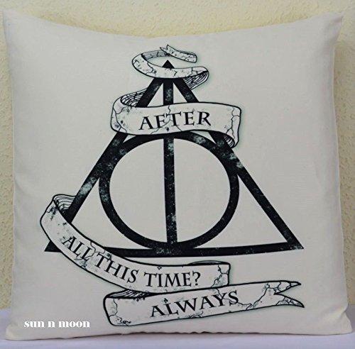 Harry Potter cojín siempre con diseño de las fundas de cojín de Halloween, ante sintético, Pad no incluido, decorativo, de alta calidad para dormitorio, salón, salón, cocina, casa, jardín de invierno, la oficina, trabajo, fiesta