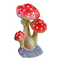 BRZM Fashion Supplies Fairy Miniature Mushroom [3-Pieces ] Garden Pots Decoration Pottery Ornament for DIY Dollhouse Potting Essential Gift
