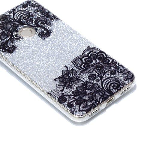 Custodia iPhone 6 Plus / 6S Plus, WindTeco Bling Bling Ultra Sottile Custodia Diamanti Glitter Silicone Gel Protettiva Case per Apple iPhone 6 Plus / 6S Plus Pizzo