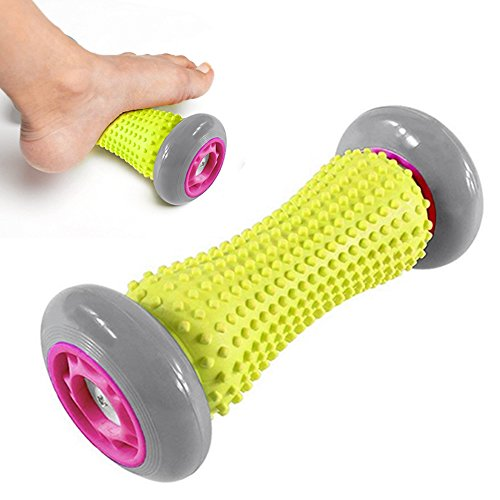 Die Hand-fuß-massage (IREGRO fussroller Muskel Roller Stick, Hand und Fuß Massage Roller, faszien rolle fussroller massage stick, Handgelenke und Unterarme Übungsroller, Recovery Tool für Plantar Fasciitis (Grau Rad))
