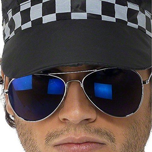 NET TOYS Pilotenbrille Fliegerbrille blau Herren Sonnenbrille Piloten Brille verspiegelt Pornobrille...