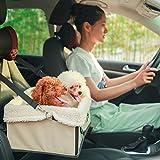 Fypo Auto Hundetasche Katzen Welpen Autositz faltbare Hundedecke Transporttasche Transportbox für Nager Hunde klein Tiere und Katzen unter 5KG 35*28*17cm - 2
