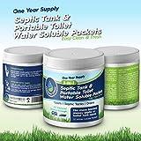 Depósito de almacenamiento y Desodorizador y tanques sépticos Toilet. Fácil uso paquetes de tratamiento tabletas para RV, marino portátil aseos, Industrial Super fuerza, All Natural.
