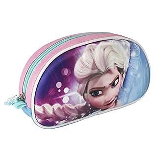 Disney Frozen Estuche portatodo con Relieve 3D, Color Rosa, 21 cm (Artesanía Cerdá 2100001980)