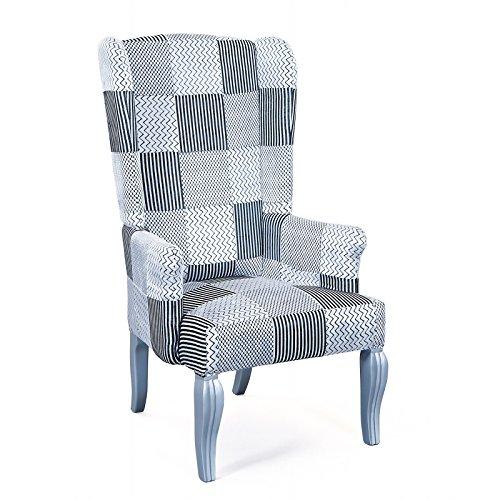 Inter Link 99805090 Sessel, Polyester, schwarz / silber, 73 x 64 x 128 cm