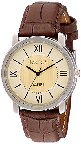 Laurels Aspire Ivory Dial Men's Watch - Lo-Asp-101
