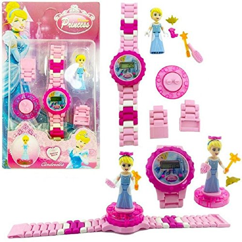 Ayezent Princess Frozen Doll Kids Toy Watch with Rotating Princess Doll Toy Fidget Spinner