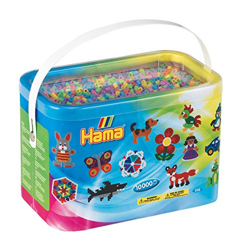 Hama Beads 10000 Perline in pastello (Midi Beads)
