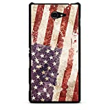 Sony Xperia M2 Hülle Case Handyhülle United States of America Amerika USA Flagge