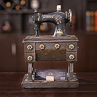 Q&M país de América para Hacer el Viejo Hucha máquina de Coser Retro Creativas Decoraciones Adornos