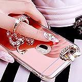 Ysimee Coque iPhone 6/6S, Miroir Silicone Étui de Protection avec Anneau Support...