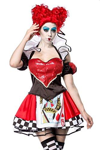 Weiße Kostüm Und Rote Königin - Atixo Red Queen Kostümset - schwarz/rot/weiß, Größe Atixo:XS-M