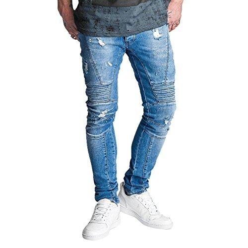 2Y Herren Jeans / Slim Fit Jeans Gang Gang Blau