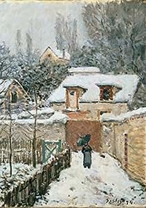 Puzzle 1000 pièces - Alfred Sisley : La neige à Louveciennes, 1878