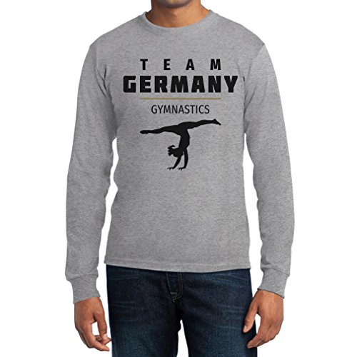 Deutschland Sportgymnastik - Team Germany Turnen Langarm T-Shirt Grau