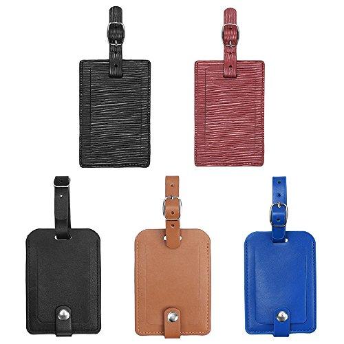 Gepäckanhänger, Galopar PU Lederkoffer ID Tags Reise Gepäck Handtasche Tag Etiketten Reise Zubehör (5 Stück) (Handtasche Zubehör)