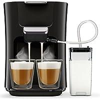 Philips Senseo HD6570/60 Latte Duo Kaffeepadmaschine (2 Kaffee, frische Milch) schwarz