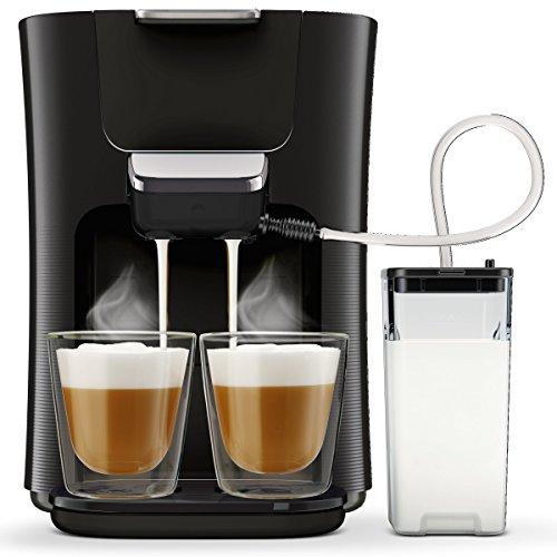 Philips Senseo Latte Duo HD7855/50Latte Duo kaffepadmaschine 2de café–Lait Frais (Noir)