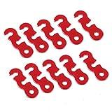 Aluminium Zelt Abspannläufer Leinenspanner Spann 10 Stk. Rot