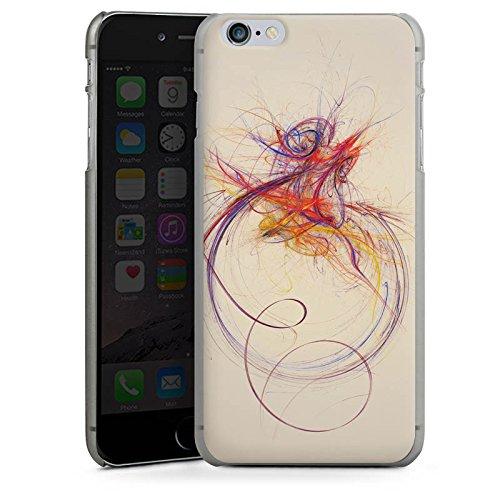 Apple iPhone 4 Housse Étui Silicone Coque Protection Traits Couleur Moderne CasDur anthracite clair