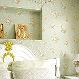 American vintage caliente rústico no tejido papel pintado dormitorio living comedor fondo de pantalla de TV , pale green
