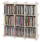 CUBIX CD-Regal 125. CD-Regal für bis zu 125 CDs. Ideale CD-Aufbewahrung. Größe 51 x 51 x 15 cm.