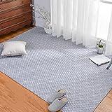 Unbekannt Fußmatten Tatami Überwürfe Sitzauflagen Graue Baumwolle Geometrische Muster Haushalt Tatami Krabbeln Matten Maschine Waschbar Waschbar (Color : Gray, Size : 70 * 210cm)