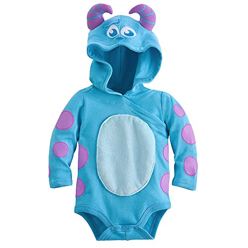 Disney Sulley Monsters Inc. Halloween Costume Bodysuit Hooded Size 18-24 Months 2T