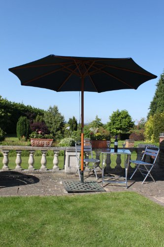 olive-grove-3m-wide-garden-parasol-in-blue