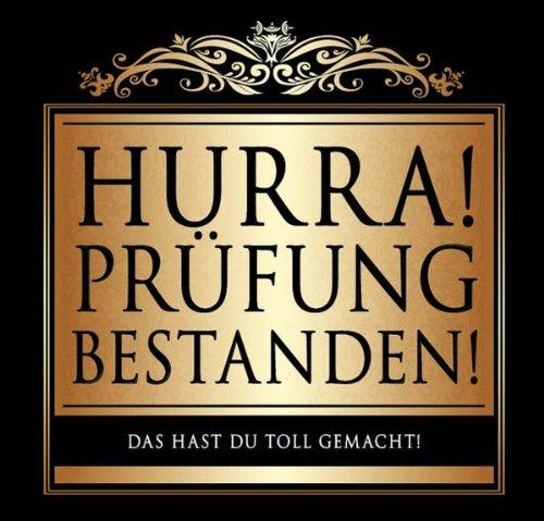 Udo Schmidt Aufkleber Flaschenetikett Etikett Hurra Prüfung bestanden gold elegant