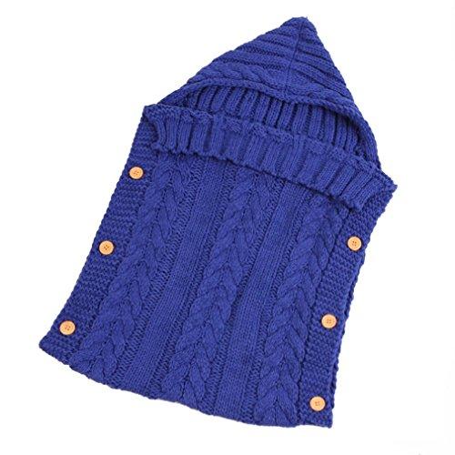 Neugeborenes Babydecke Wrap Swaddle Decke, Baby Kinder Kleinkind Wolle Knit Decke Swaddle Schlafsack Schlaf Sack Stroller Wrap für 0-12 Monate Baby