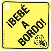 "Sumex Babyesp - Cartel Aviso ""Bebé A Bordo"" Con Ventosa"