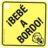 SUMEX Babyesp Warning Sign with 'Bebé A Bordo' Design and Suction Cup [Spanish Language]