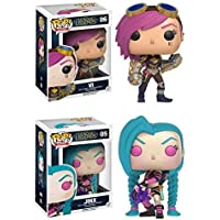 Funko POP! League Of Legends: Vi + Jinx - Video Game Vinyl Figure Set NEW