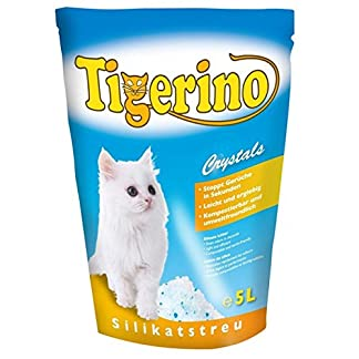 ZM Tigerino Crystals Litter Box 6 Packs of 5 Litres Silicon Litter Tray Crystals Tigerino for Cats: Quickly eliminates… 10