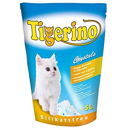 ZM Tigerino Crystals Litter Box 6 Packs of 5 Litres Silicon Litter Tray Crystals Tigerino for Cats: Quickly eliminates… 1