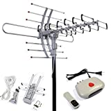 Outdoor Digital Antenna With Built-In Rotor Remote Controlled HDTV 1080P TV Antenna Strong