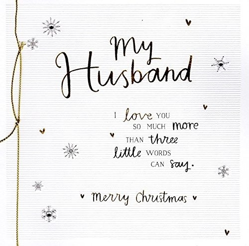 My Husband Christmas Greeting Card Embellished...
