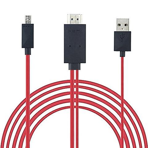 Micro USB vers HDMI plomb Fil de câble TV Out 1080p moniteur Vidéoprojecteur pour Samsung Galaxy S5S4S3Note4