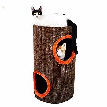 Escalade des cadres double sisal litière pour chat Cat Scratch sur plaque de jouets pour animaux familiers