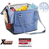 Xcase Kühlbox: Elektrische 12-V-Thermo-Kühltasche fürs Auto, 35 l (Elektrische Kühltasche faltbar)