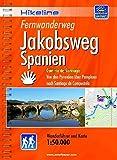 Hikeline Fernwanderweg Jakobsweg Spanien 920 km: Camino de Santiago - Von den Pyrenäen über Pamplona nach Santiago de Compostela. 1:50 000, wetterfest