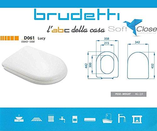 Sedile wc compatibile dolomite alpina termoindurente copriwater plastica adattabile bianco cerniere cromate