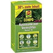 COMPO Rasenunkraut-Vernichter Banvel® M, Rasenherbizid auch gegen schwer bekämpfbare Unkräuter im Rasen, 120 ml