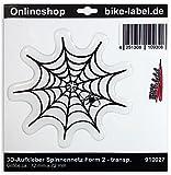 Adesivi 3d–910027–forma di ragnatela 2/ragno/Spider–Protezione Trasparente Adesivo–univ. per tutte le superfici lisce/ideale per auto, Casco, frecce, porte, finestre, cellulare, laptop