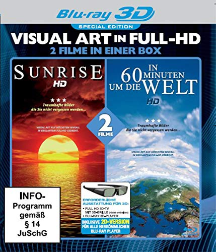 In 60 Minuten um die Welt/Sunrise - Visual Art in Full-HD - Special Edition [3D Blu-ray]